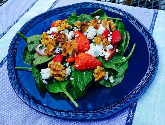 Tom's Spinach Strawberry Salad