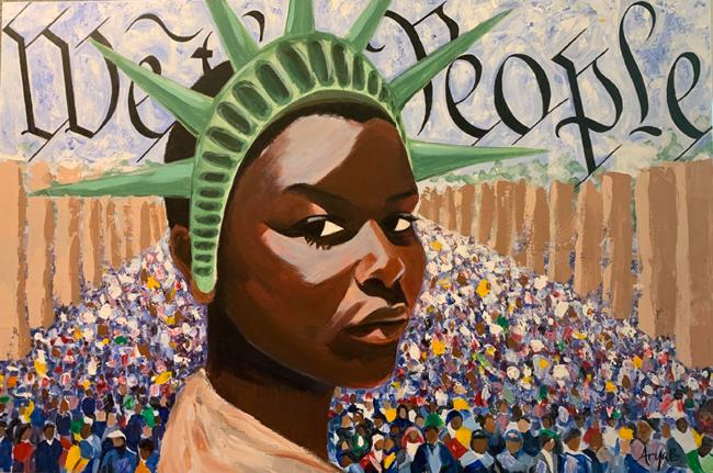 """Arya Badiyan, """"Liberty Enlightening the World"""""""