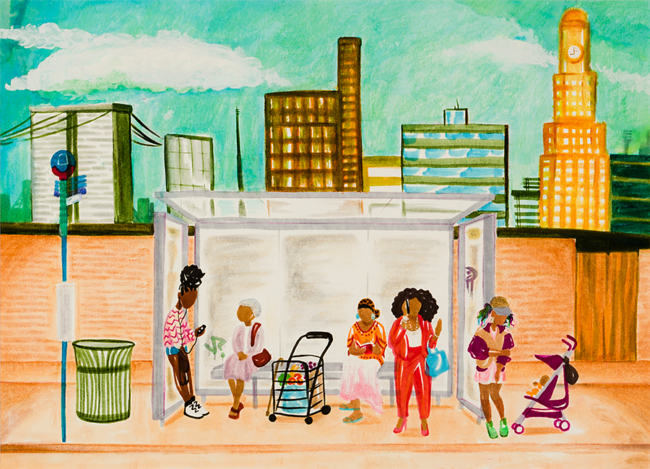 Collection of Najee Brown, 'The Bus Stop'