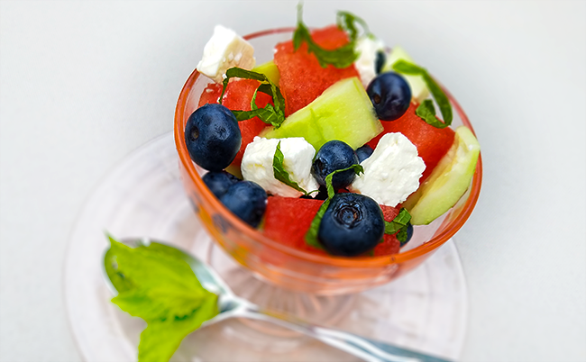 Blueberry, Watermelon, Cucumber & Feta Salad