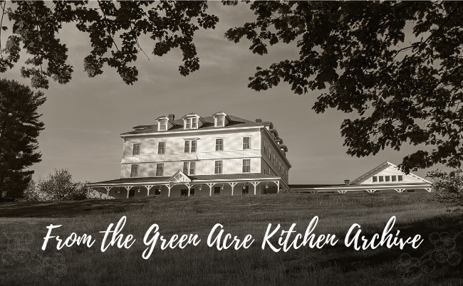 Recipes from the Green Acre Kitchen Archive