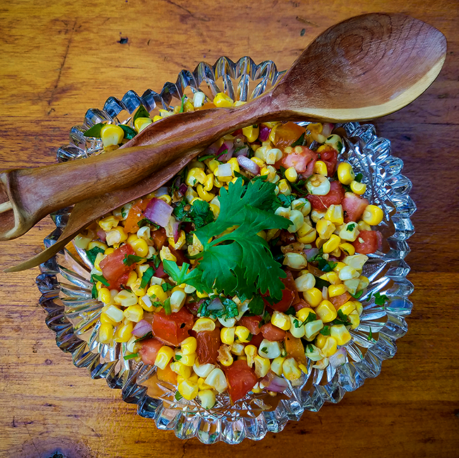 Roasted Corn Salad recipe from the Green Acre Kitchen
