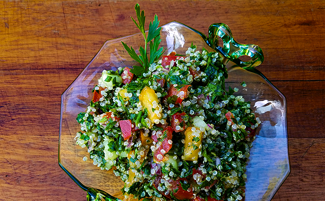 Quinoa Tabouleh from the Green Acre Kitchen