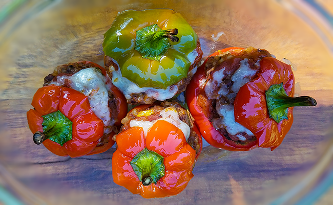 Food & Fellowship Vegetarian Mini Stuffed Peppers