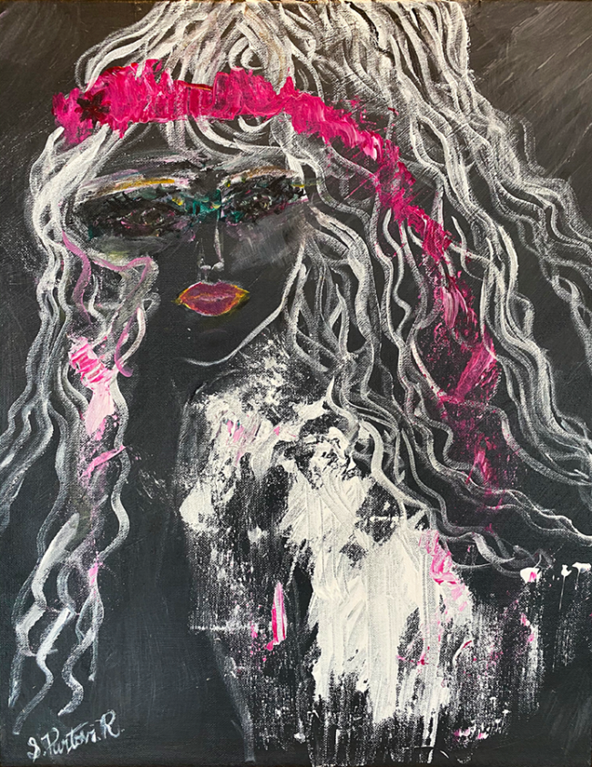 "Shiva Partovi Riddell, ""True Vision"", Acrylic on canvas, 16 x 20 inches"