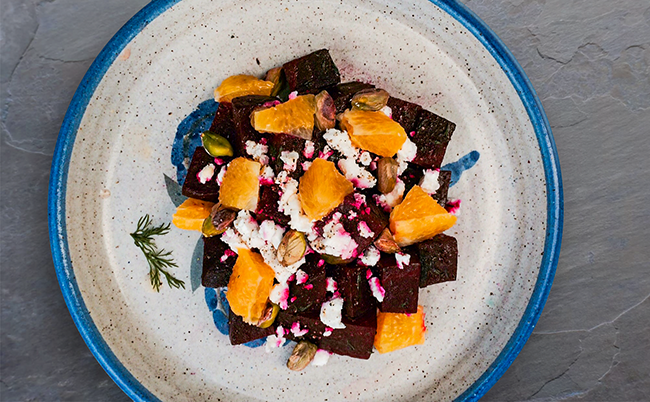 Beet, Orange and Pistachio Salad