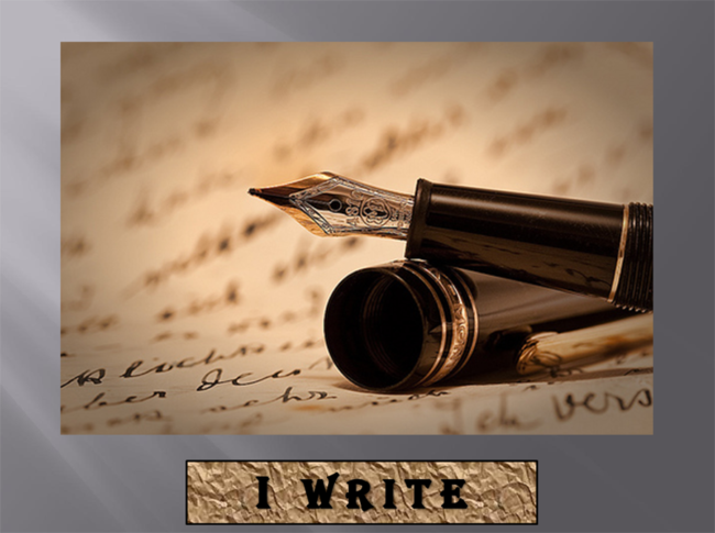 "Aliyah Aziza Ogbue', ""I WRITE"", Audio Recording, 2:20 min"