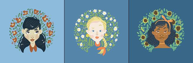 "Saba Taghvai, ""Grace"", ""Joy"", ""Hope"" Digital art, 1056 x 1056 pixels"
