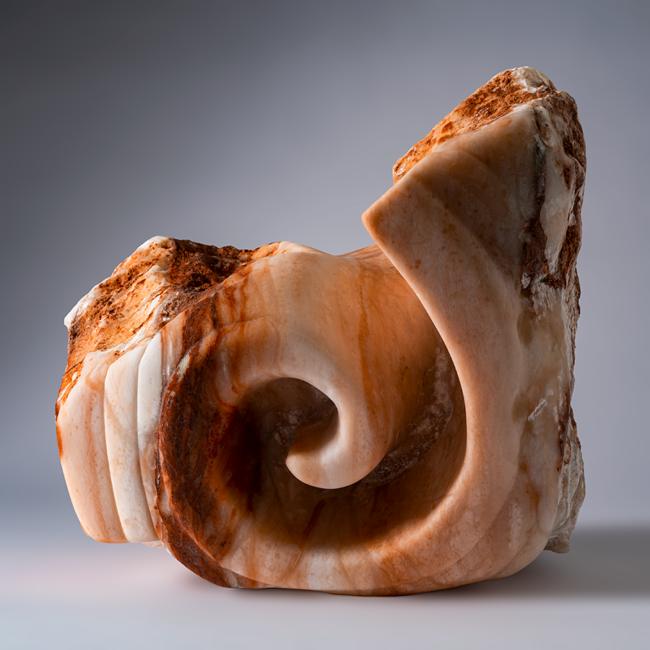"""Peter Sapiro-Mitten, """"Untitled"""", Alabaster sculpture, 12 x 11 x 9 inches"""