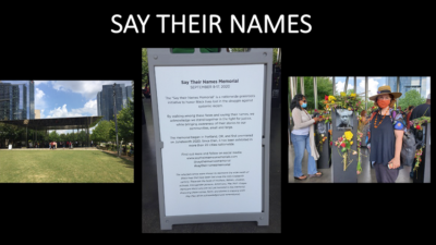 """Anne Perry, """"SAY THEIR NAMES MEMORIAL"""", Multi-Media Video created in PowerPoint"""