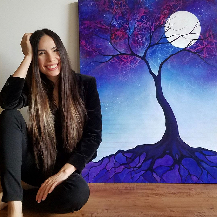 Jacqueline Claire is a painter, illustrator, and storyteller, with a background in acting.
