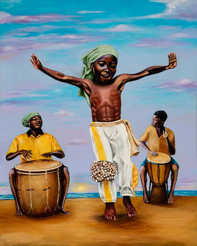 Young Garifuna Boy Dancing Punta